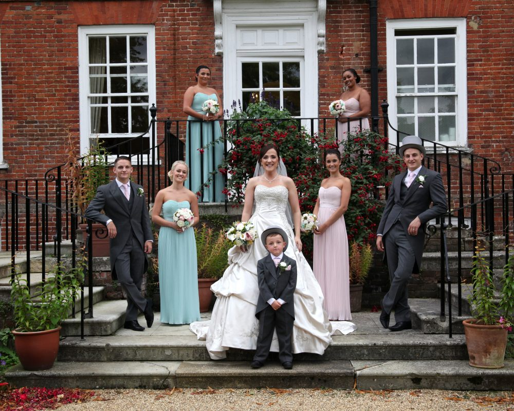 Bride & Groom with best man and bridesmaids